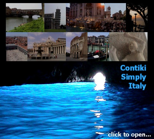 Click to open My Travels - Contiki Simply Italy